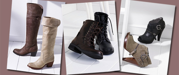 Frye, Sketchers and Guess Boots on VictoriasSecret.com